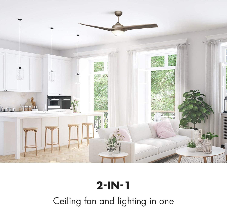 Klarstein Figo 2 en 1 Ventilador de techo y luz (52 pulgadas, 55 W ...