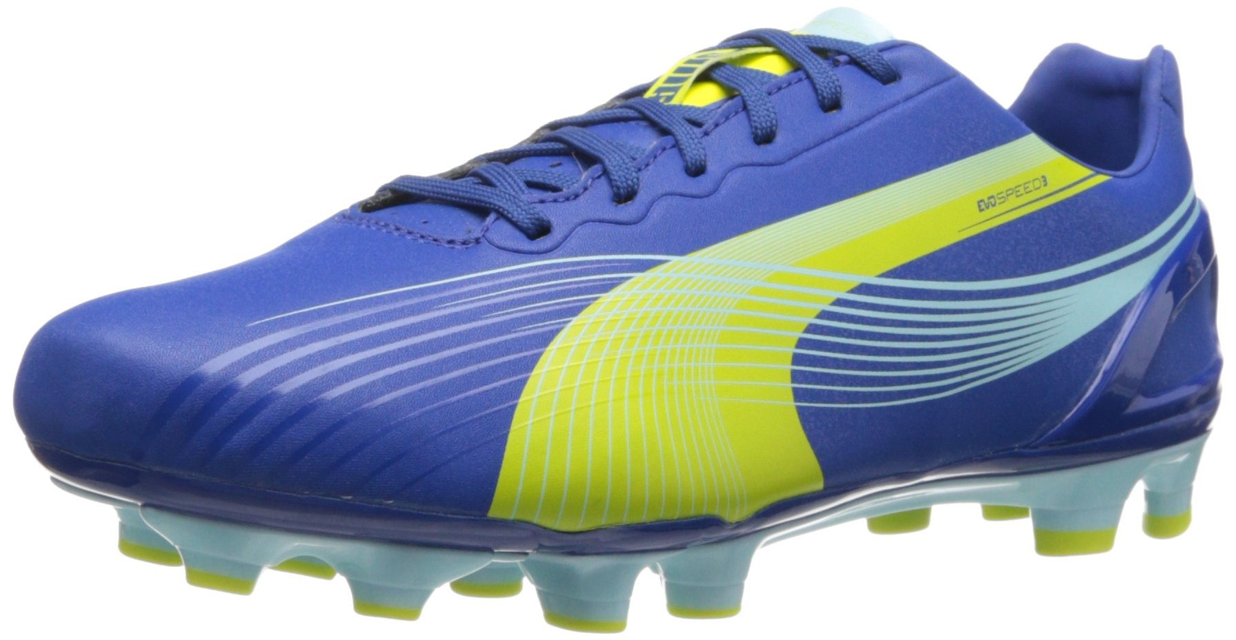 PUMA Women's Evospeed 3.2 FG Soccer Shoe,Monaco Blue/Sulfur Spring/Sunny Lime,8.5 B US by PUMA