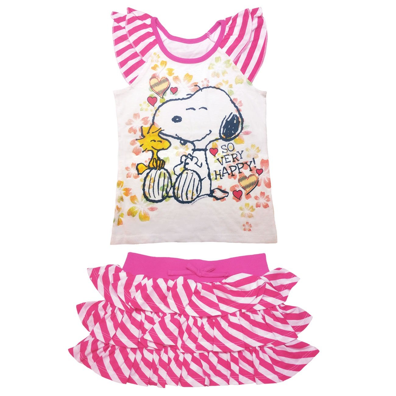 Peanuts Little Girls' Toddler Snoopy Top and Scooter Set (4T)