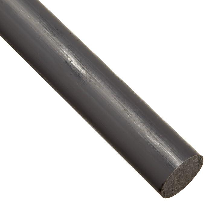 "- Natural Acetal Round Rod Nominal 48/"" x 5//8/"" Diameter Copolymer"