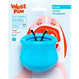 West Paw Zogoflex Toppl Interactive Treat Dispensing Dog Puzzle Play Toy, 100% Guaranteed Tough, It Floats!, Made in USA, Sma