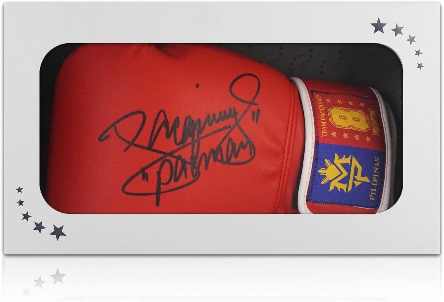 Manny Pacquiao Firmado Red de guantes de boxeo. En caja de regalo: Amazon.es: Deportes y aire libre