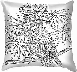 Cockatoo Parrot Libro para colorear Adultos Mandala