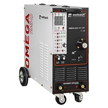 Welbach Omega 250 Schutzgas Schweißgerät Elektrodenschweißgerät (Mig ...