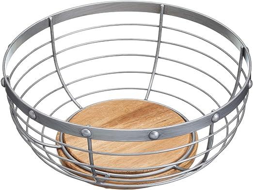 Kitchencraft Industrial Cocina Metal Estilo Vintage//frutero de Madera 28/x 28/x 12/cm Acero 28/x 12/cm Gris 11/x 5