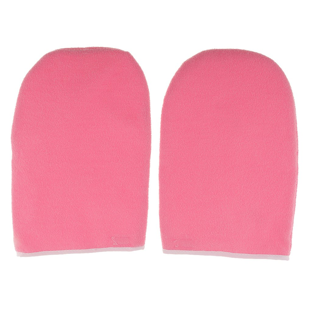 Baoblaze 1 Pair Paraffin Wax Protection Hand Spa Mask Moisturizing Gloves Mitts Pink