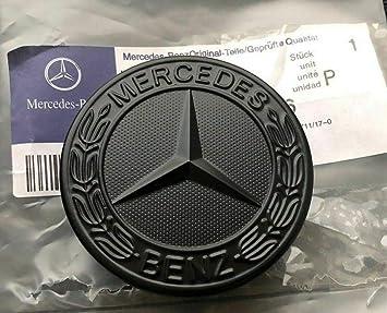 Stemma nero per cofano Benz Sport, 57 mm, stemma classe C, E, S