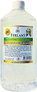 TERLANS Odorless Turpentine Substitute White Spirit Oil Paint Thinner 1 Liter