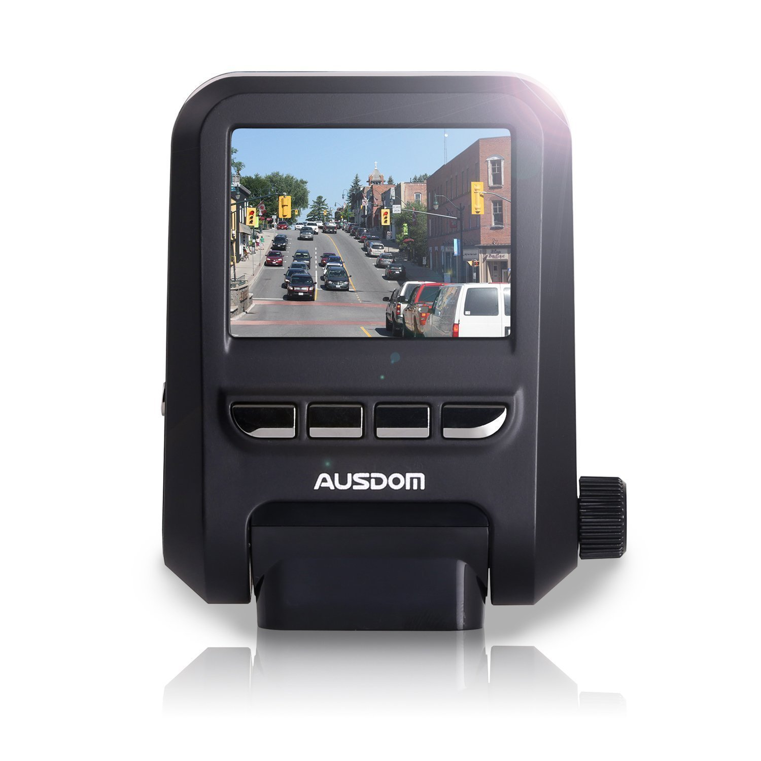 Ausdom AD118 Dashboard Camera Recorder with FHD 1080p Resolution, WDR, 6-Glass lenses, Motion Detection, Loop-Cycle Recording [並行輸入品]   B01NCR8LP2