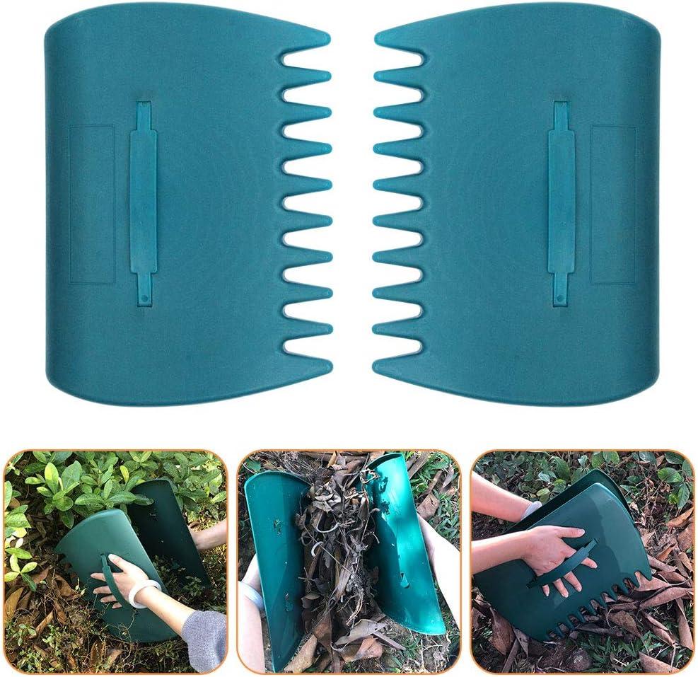 caiyuangg 20 Pack Landscaping Edging Hand rokes Garden Border Interlocking Lawn Edging Plastic Green (Hand rakes)