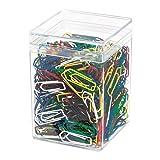 Wedo 90050099 Büroklammern (Metall, 26 mm, lackiert) 500 Stück, farbig sortiert