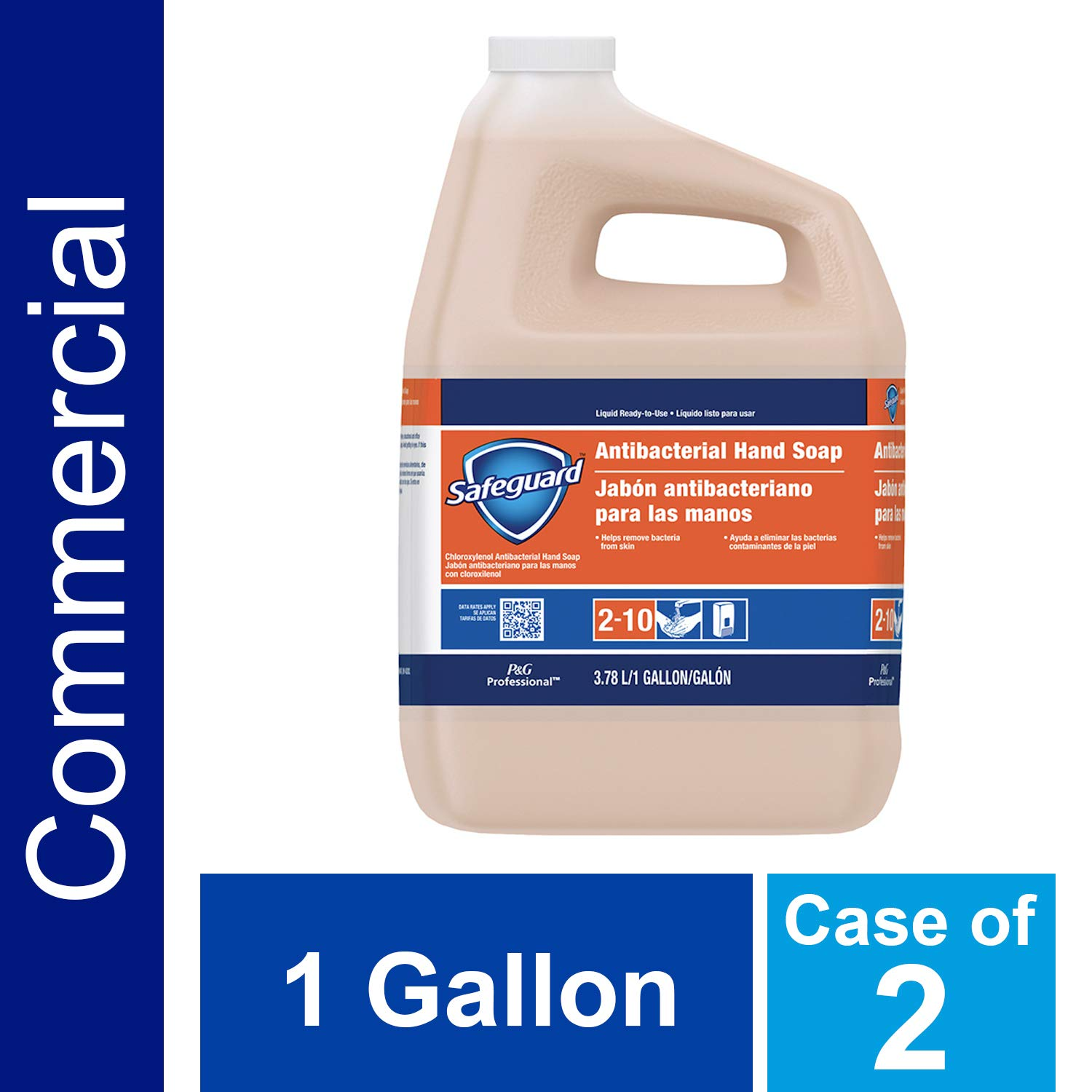 P&G Professional Antibacterial Hand Soap from Safegaurd Professional, Bulk Liquid Hand Soap Refill, 1 Gal. (Case of 2) - 00037000026990 by P&G Professional
