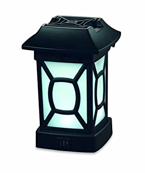 ThermaCELL Patio Outdoor Lantern Flying Insect Repeller Black