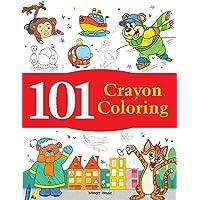 101 Crayon Coloring: Fun Activity Book For Children