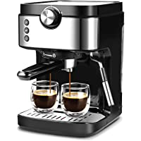 Espresso Machine 20 Bar Coffee Machine With Foaming Milk Frother Wand, 1300W High Performance No-Leaking 900 ml…