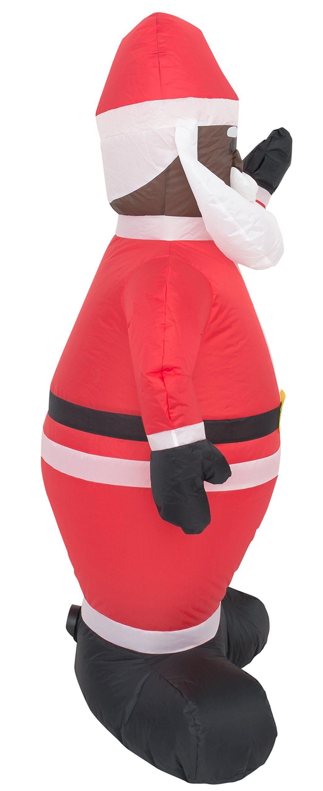 Costume Agent Inflatable Airblown Indoor and Outdoor Christmas Decoration (4 feet, Black Santa) by Costume Agent (Image #2)