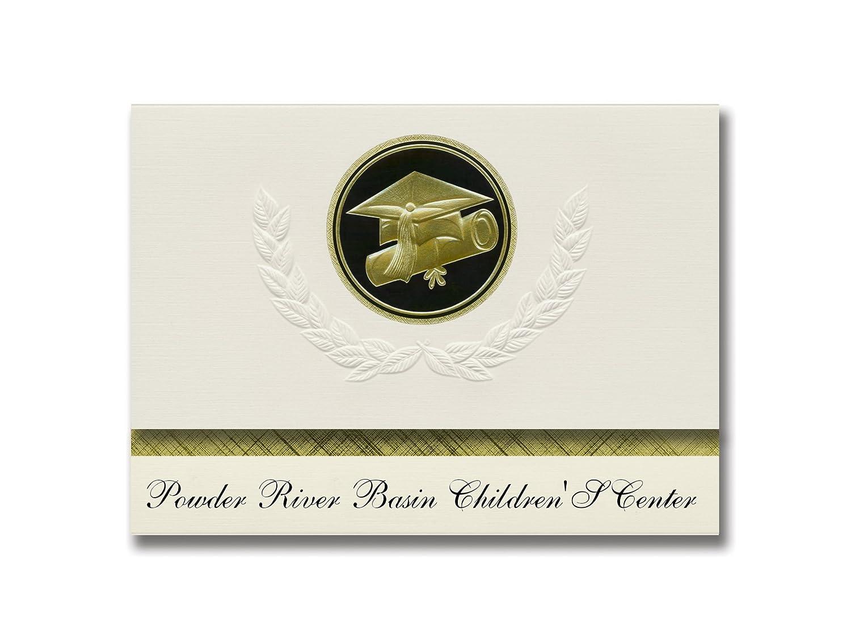 Signature Announcements Powder River Basin Children'S Center (Gillette, WY) Graduation Announcements, Presidential Elite Pack 25 Cap & Diploma Seal Black & Gold