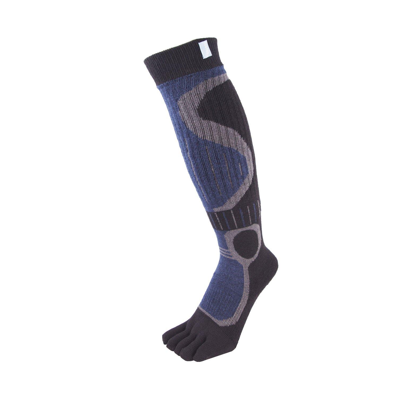 TOETOE® Socken-Ski Kniehohe (EU 36-46 | UK 3-11.5, Schwarz & Blau)