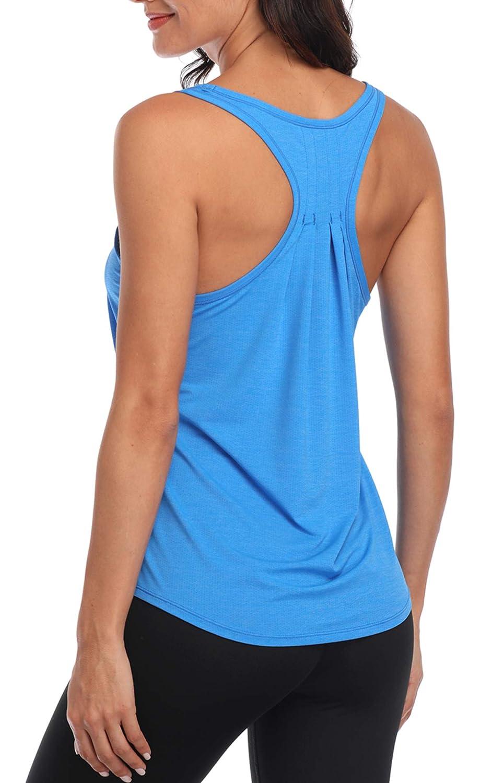 Charmo Damen Sport Tank Top Essential Fitness T-Shirt Tops