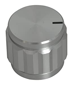 "Jameco Valuepro 45KN032-R Knob, Round, 1/4"" Shaft, Aluminum with Set Screw, 0.87"" x 0.75"" Size (Pack of 2)"