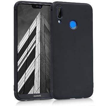 kwmobile Funda para Huawei P20 Lite - Case para móvil en TPU silicona - Cover trasero en negro mate