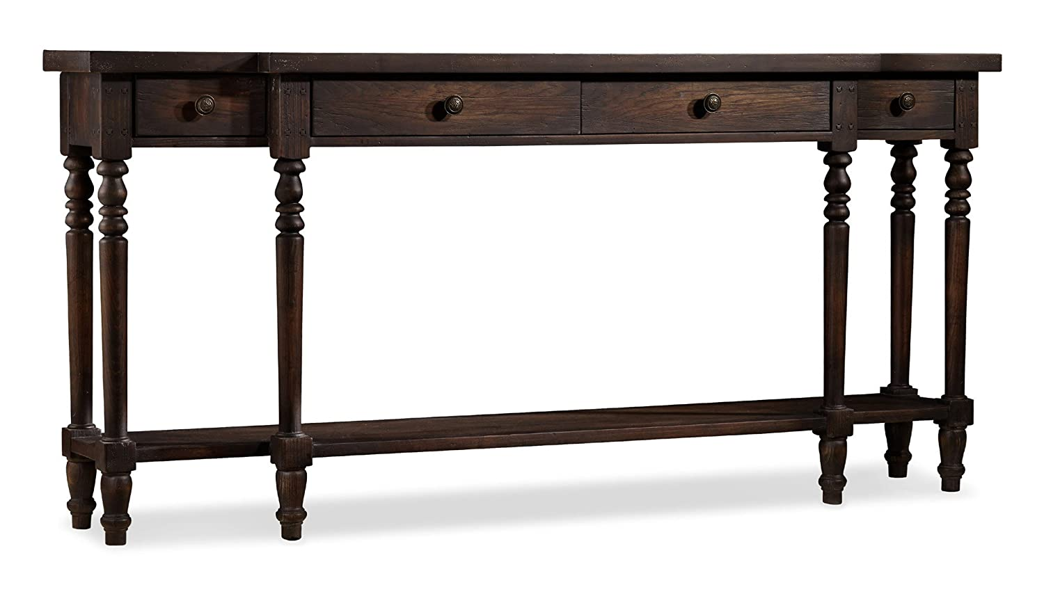 Amazon.com: Hooker Furniture DaValle Console Table In Dark Hickory: Kitchen  U0026 Dining