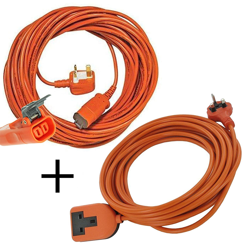 Spares2go 15 m de cable y enchufe para cortacésped Bosch Rotak ...