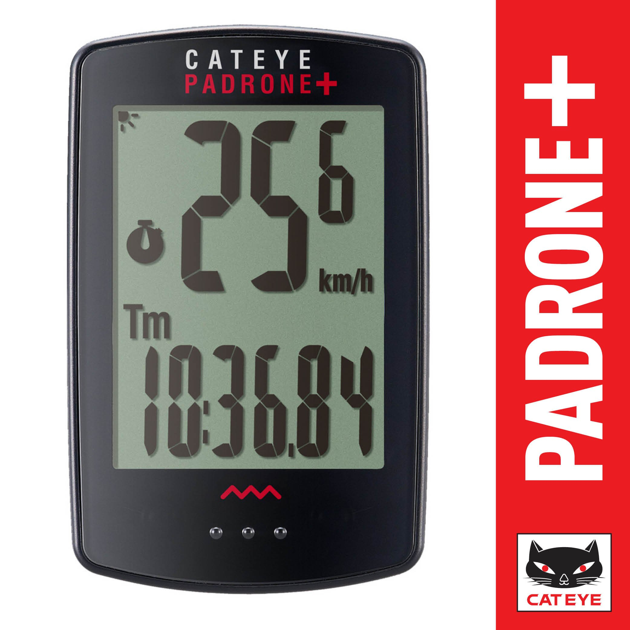 CAT EYE - Padrone Plus Wireless Bike Computer, Black