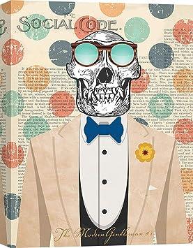 tableau peinture déco murale tête de mort 19