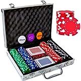 Tocebe Poker Chips Set, 200PCS/300PCS Poker Chips with Aluminum Case, 11.5 Gram Poker Set for Texas Holdem Blackjack…