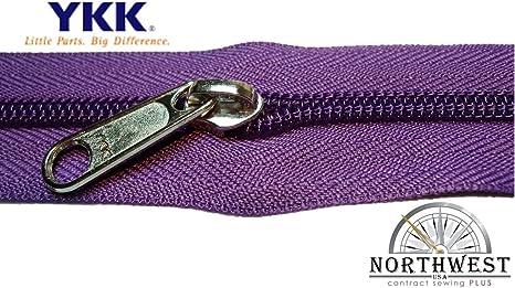 YKK Nylon Coil Zipper Tape # 10 Red 5 yards with 5 Nickle Zipper Sliders