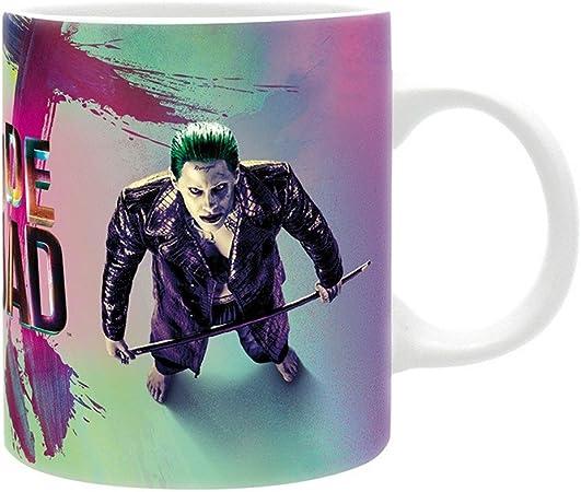 DC Comics Harley Quinn y joker escuadrón suicida Logo taza de cerámica con caja de regalo: Amazon.es: Hogar