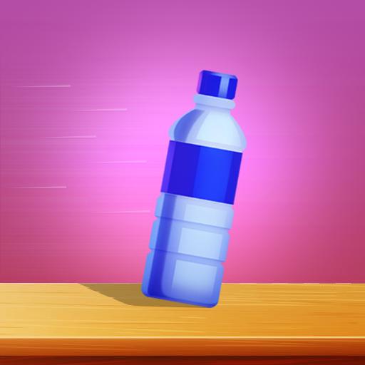 Flipping Empty Glass Bottle ()