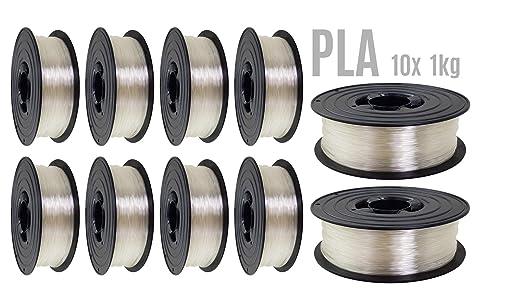 Filamento PLA para impresora 3D, 1,75 mm, 10 unidades (10 kg ...