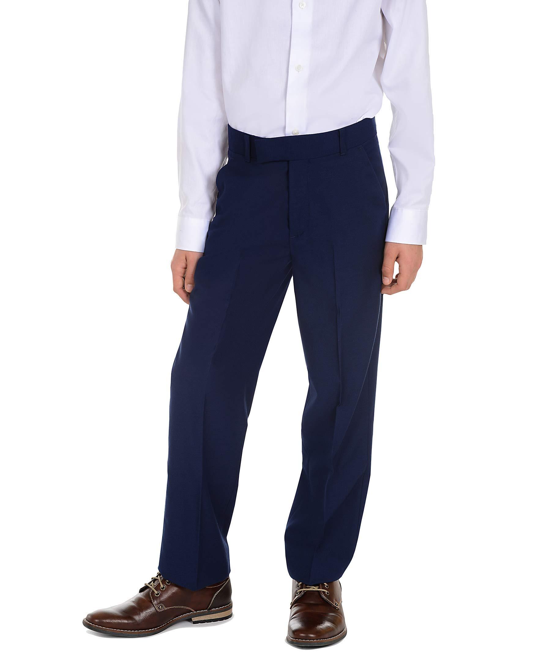 Calvin Klein Big Boys' Flat Front Dress Pant, Infinite Blue, 10 by Calvin Klein (Image #4)