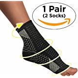 Evies Compression Running Socks [RELIEVES PLANTAR FASCIITIS] Foot Ankle Sleeve for Swelling and [ASSIST IN BLOOD CIRCULATION] - Small/Medium - Shoe Size | Women 6-9 | Men Size 5-8 - 1 Pair