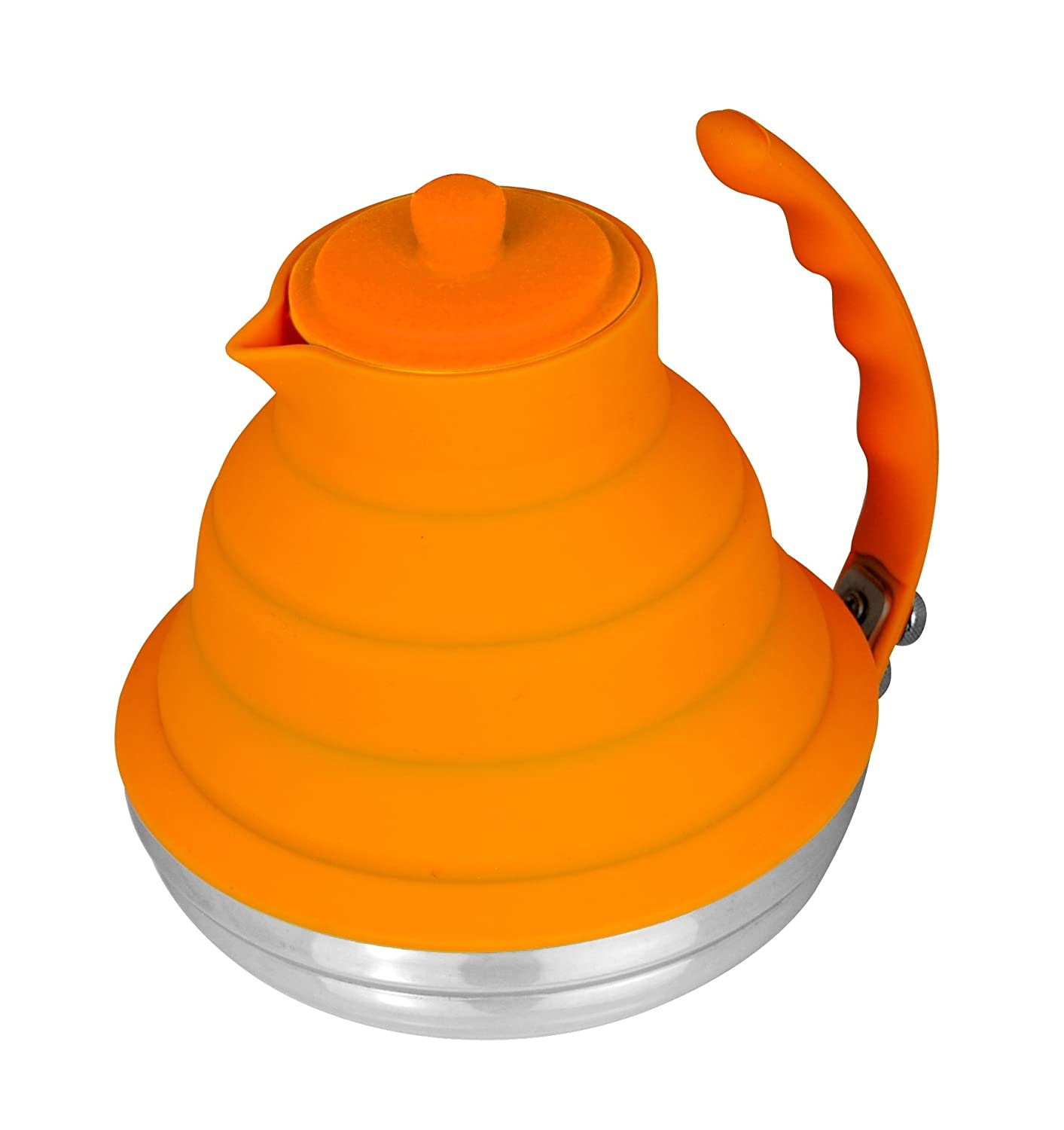 amazoncom better houseware collapsible tea kettle orange  - amazoncom better houseware collapsible tea kettle orange silicon teakettle kitchen  dining