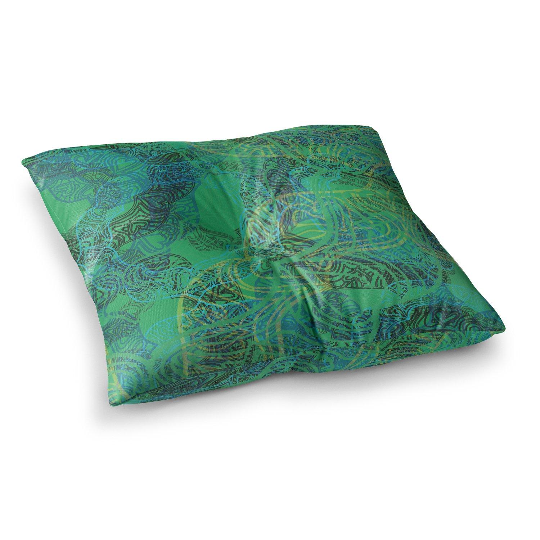 Kess InHouse Patternmuse Mandala Mint Green Abstract, 26' x 26' Square Floor Pillow