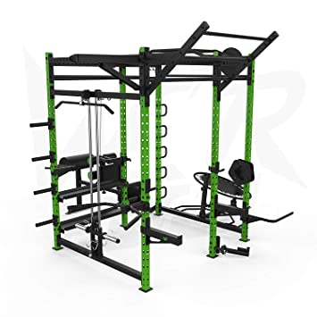 We r sports power rack home gym crossfit power cage pull ups ab