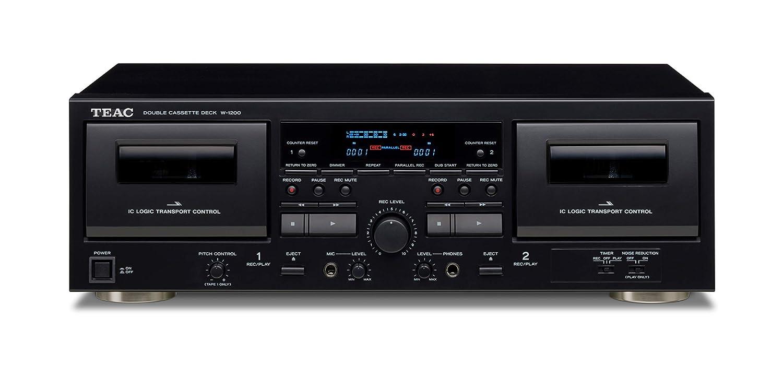 TEAC W-1200 Cassette Deck 2cubierta(s) Negro - Grabadora (30 ...