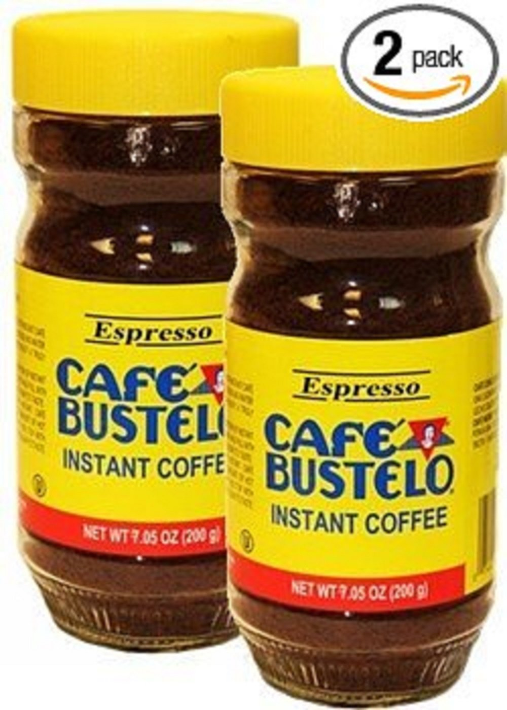 Bustelo Instant Coffee Large 7 05 Oz Glass Jar Pack Of 2