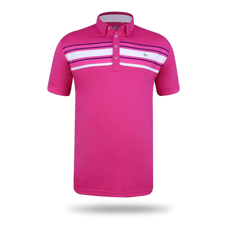 cb92594c Walrus Mens Mason Bold Stripe Mens Golf Polo Shirt Trendy, Quick Dry,  Comfy, Stretch: Amazon.co.uk: Clothing