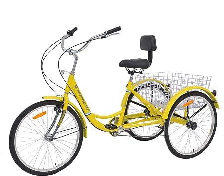 MOPHOTO Triciclo para adultos 1/7 velocidad Tres ruedas Bicicletas para adultos, Meridian 26 adultos Triciclo para Hombres/Mujeres/personas mayores: Amazon.es: Deportes y aire libre