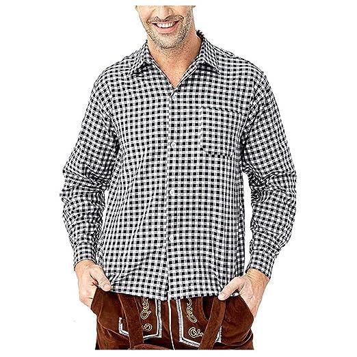 POTOU Camisa para Traje Regional para Hombre, Slim Camisa de ...