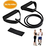 Resistance Bands, Exercise Bands with Handles, Home & Gym Strength Training Tubes, Resistance Loop Bands for Men/Women, Workout Bands for Shoulder, Arm and Leg, Fitness Strength Training Equipment for Improving Mobility 2 Levels - Medium & Heavy