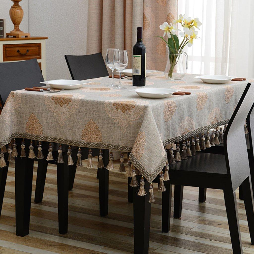 Qiao jin Tischdecke Europäische Tischdecken Rechteck Tuch Tischdecke Couchtisch Tischdecke (Farbe   B, größe   140180cm) A 110170cm