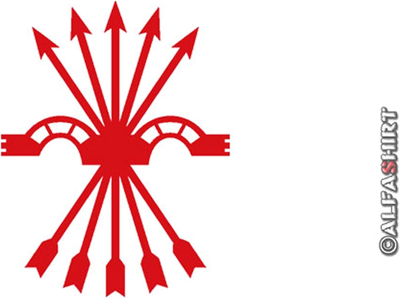 Pegatinas – Falange adhesivos España segunda República Franco nadadores Escudo Española Joch flechas (Rojo, 10 x 8 cm) # a549: Amazon.es: Coche y moto