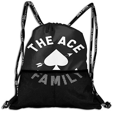 74d01f6fa073 Amazon.com  POP GSGETSA Ace Family Logo Men Women Sport Gym Sack Drawstring  Backpack Bag  Sports   Outdoors
