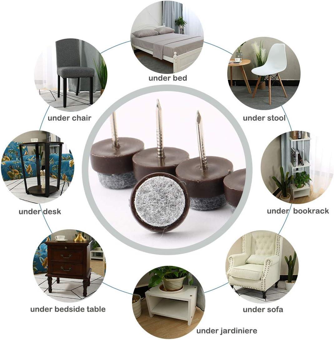 50/piezas silla pierna suelo almohadilla de fieltro deslizante Glide DIY protectores de u/ñas 15/mm Dia