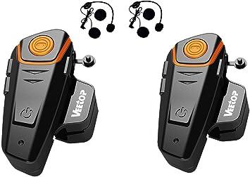 Veetop Intercom pour Casque Moto 1000M Set de 1 /Étanche Bluetooth